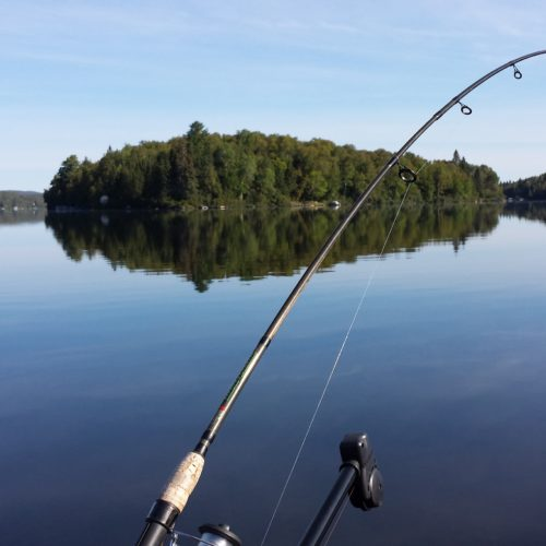 À la pêche, lac, chalet