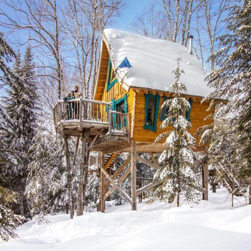 chalet perché hiver