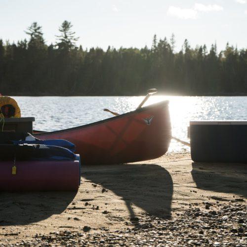canot camping réservoir kiamika