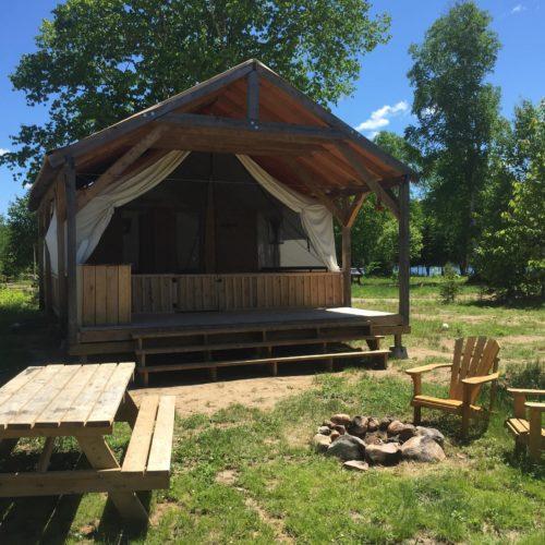prêt-à-camper réservoir kiamika écolo