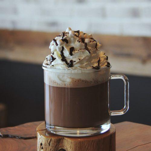 chocolat chaud, kaffé krème