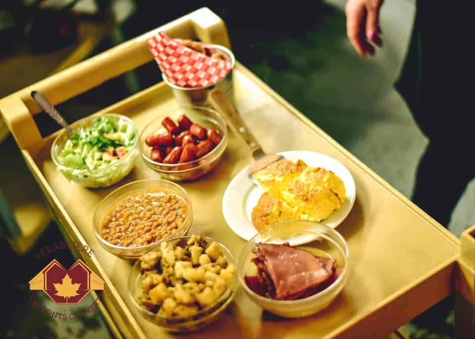 Service de repas d'érablière