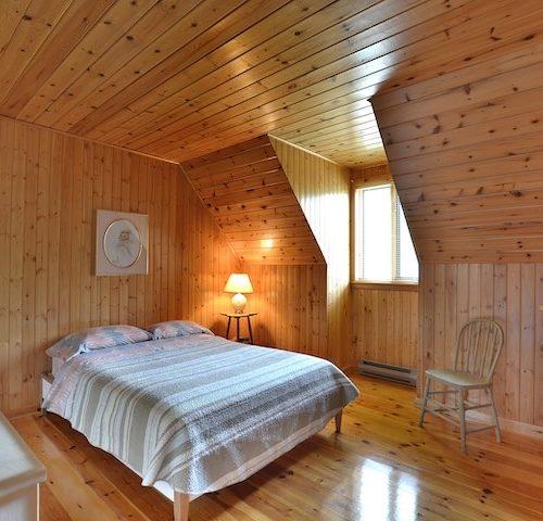 chambre, chalet, bois