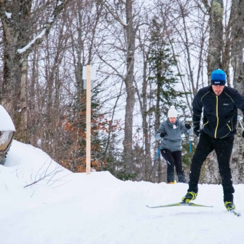 Skieur de ski de patin