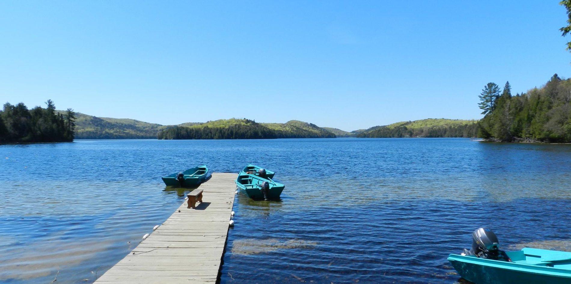 quai pêche pourvoirie lac