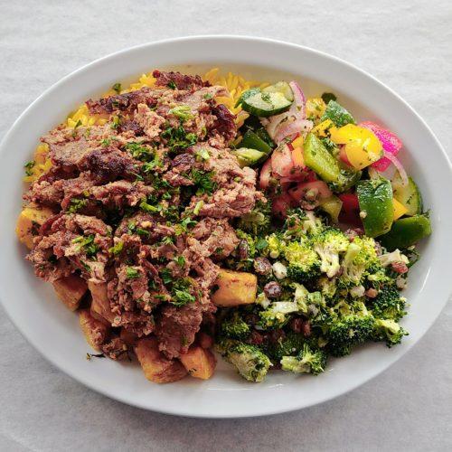 assiette libanais, marocain