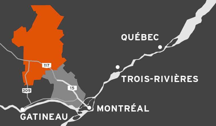 Où se trouve les Hautes-Laurentides