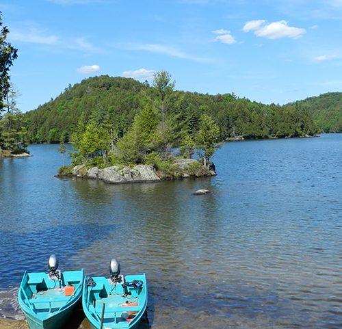 chaloupe pêche lac du cerf boismenu