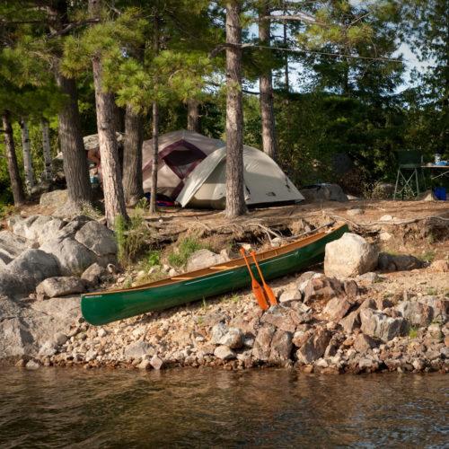 canot camping parc régional tente