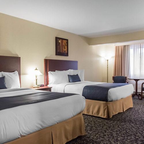 Chambre avec 2 lits, hôtel