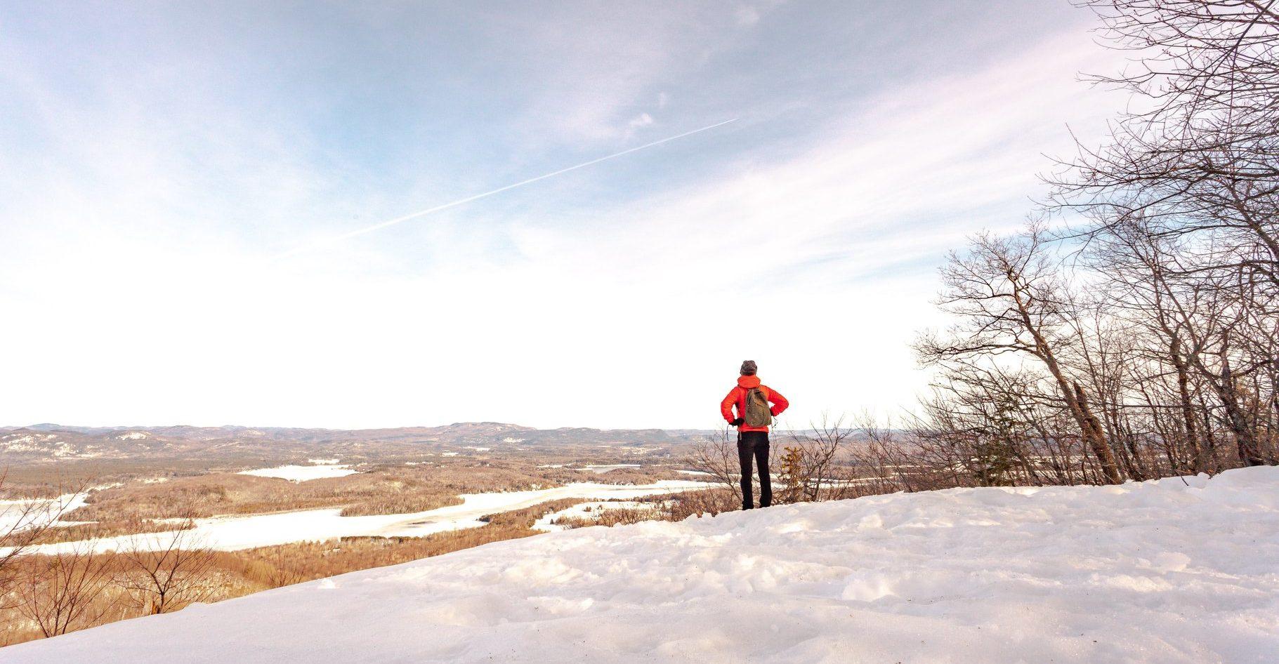 raquette hiver point de vue